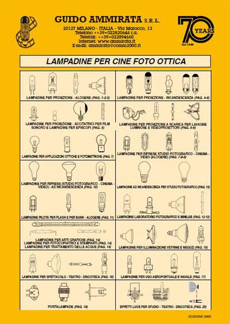 Catalogo Ammirata Lampadine Cine Foto Ottica