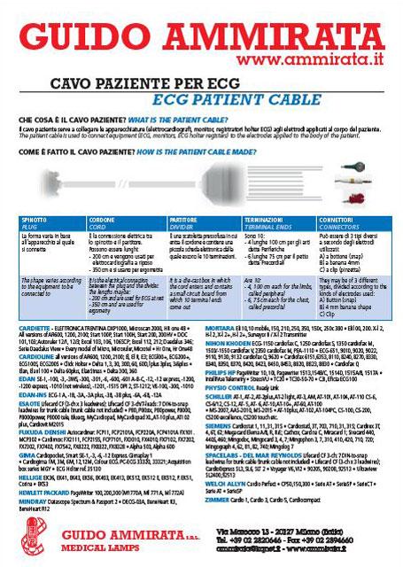 Catalogo Ammirata Cavi Paziente per ECG