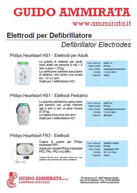 Catalogo Ammirata Elettrodi per Defibrillatori